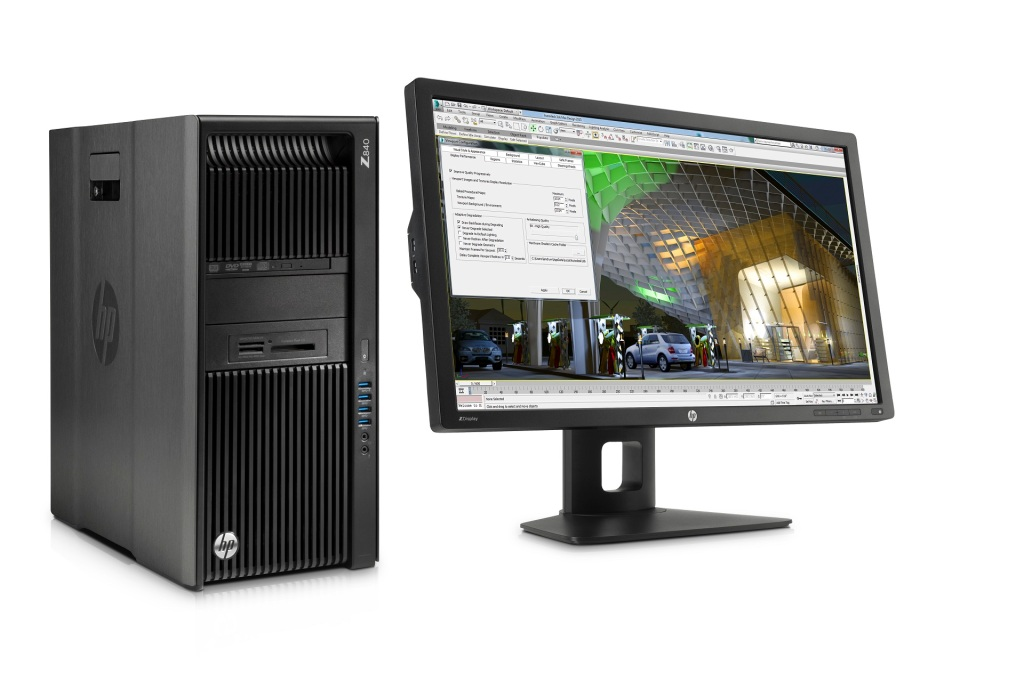 HP Z840 Workstation with HP Z27i 27-inch IPS Display