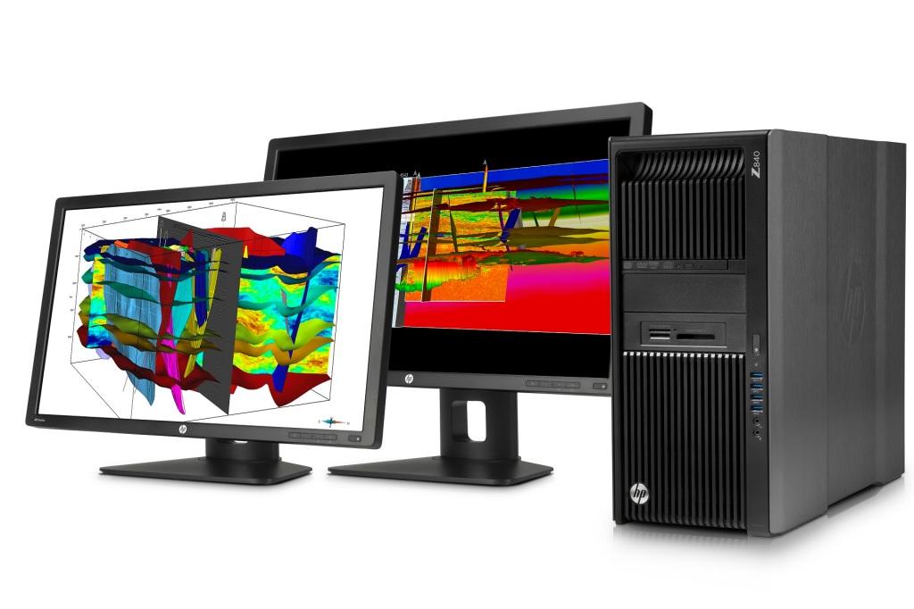 HP Z840 Workstation with Dual HP Z27i 27-inch IPS Display