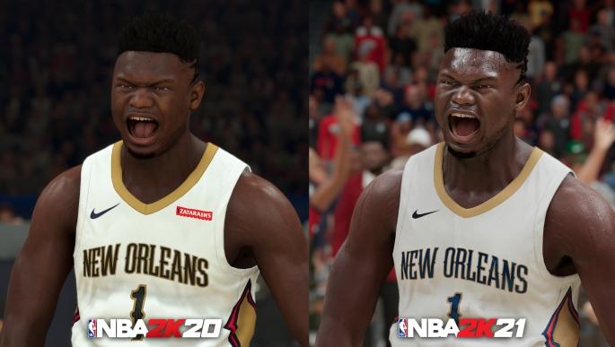 NBA 2K21 Next-Gen - Zion Williamson Comparison NBA 2K20